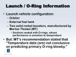 launch o ring information
