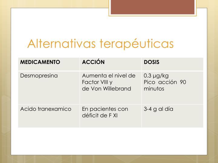 Alternativas terapéuticas