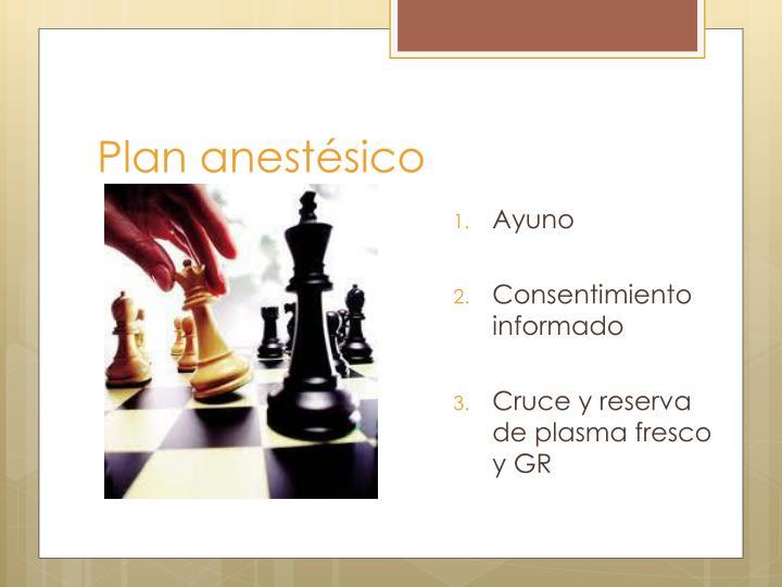 Plan anestésico