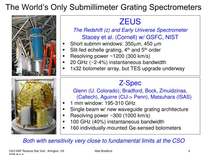 The World's Only Submillimeter Grating Spectrometers