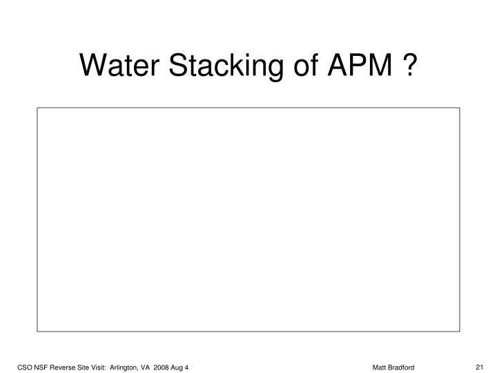 Water Stacking