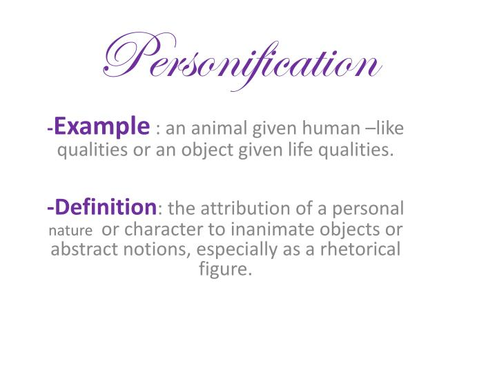 Ppt Personification Powerpoint Presentation Id2338970