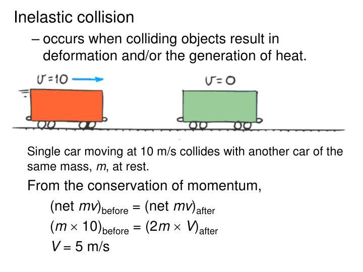 Inelastic collision