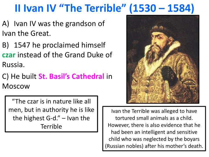 ivan the terrible thesis
