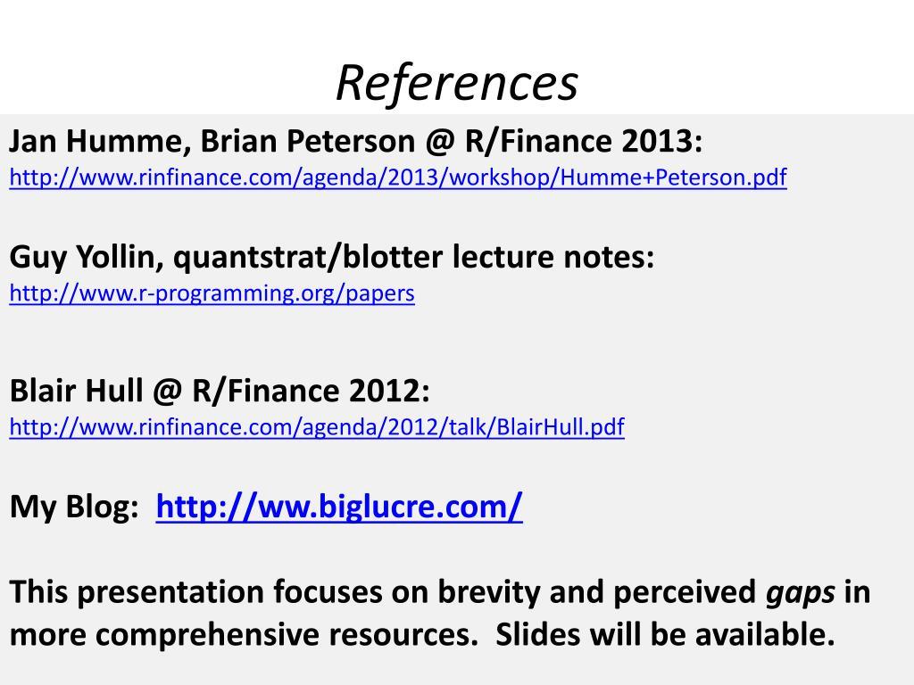 PPT - R/ quantstrat For Fun & Profit PowerPoint Presentation