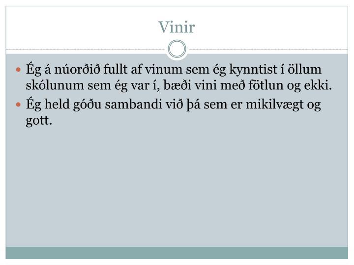 Vinir