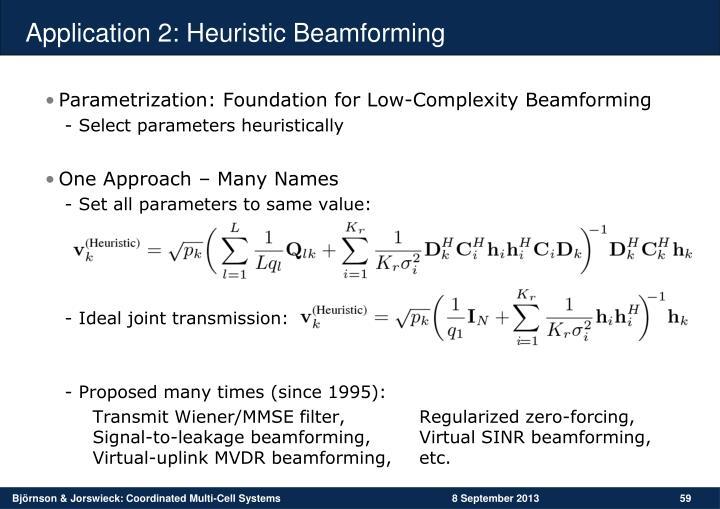Application 2: Heuristic Beamforming