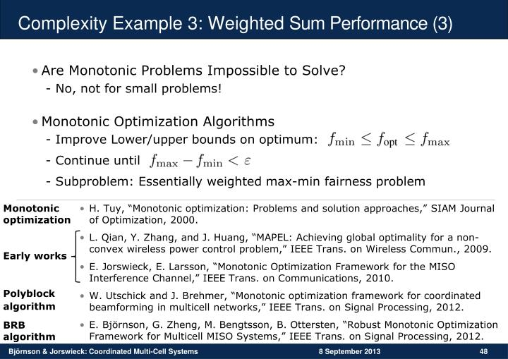 Complexity Example 3: Weighted