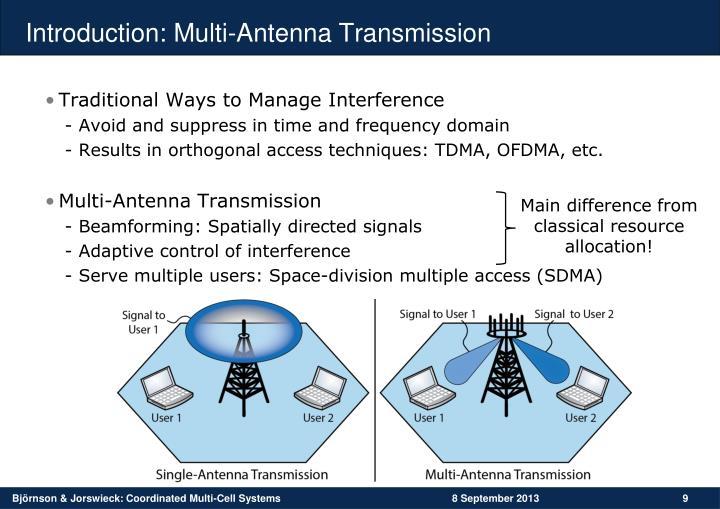 Introduction: Multi-Antenna Transmission