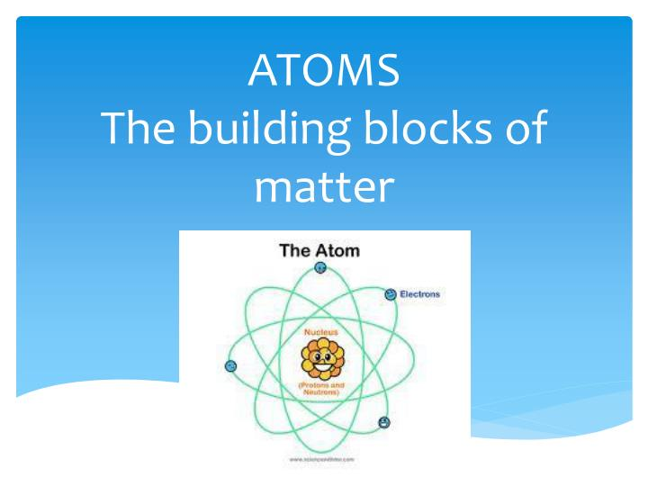 PPT ATOMS The Building Blocks Of Matter PowerPoint