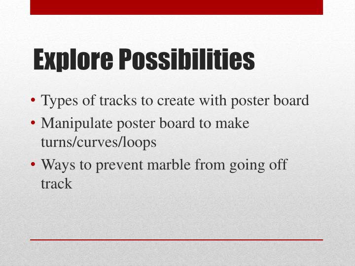 Types of tracks to create with poster board
