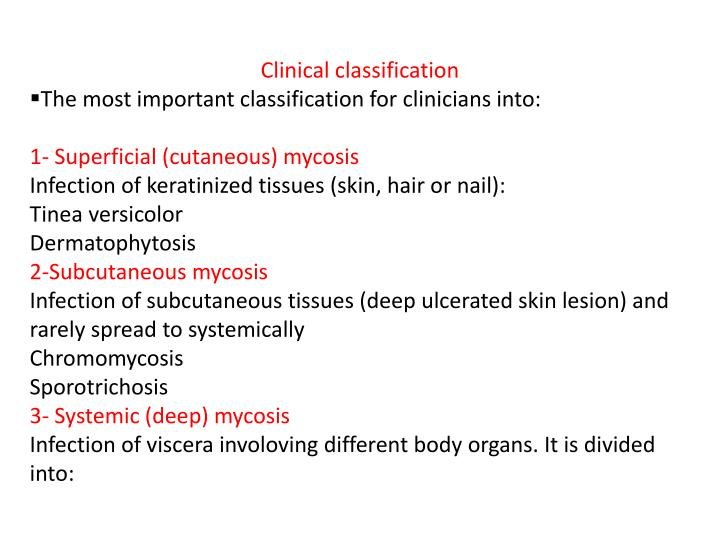 Clinical classification