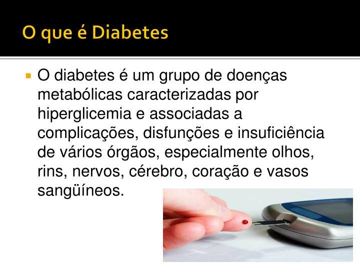 O que diabetes