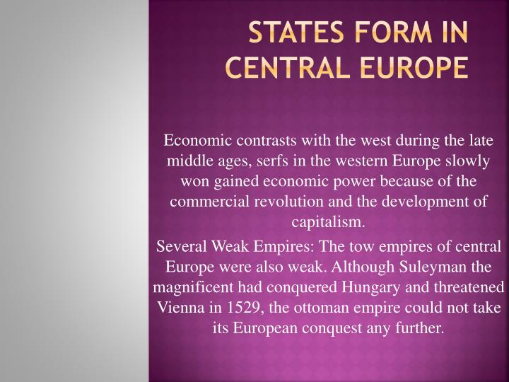 states form in central europe n.