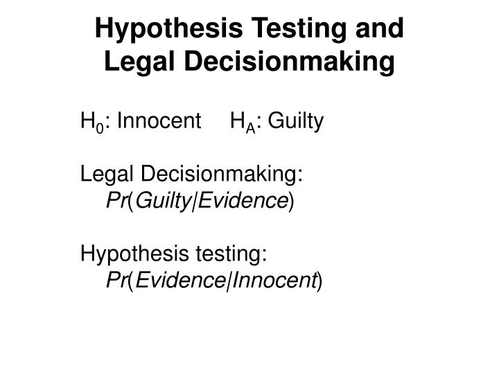 Hypothesis Testing and