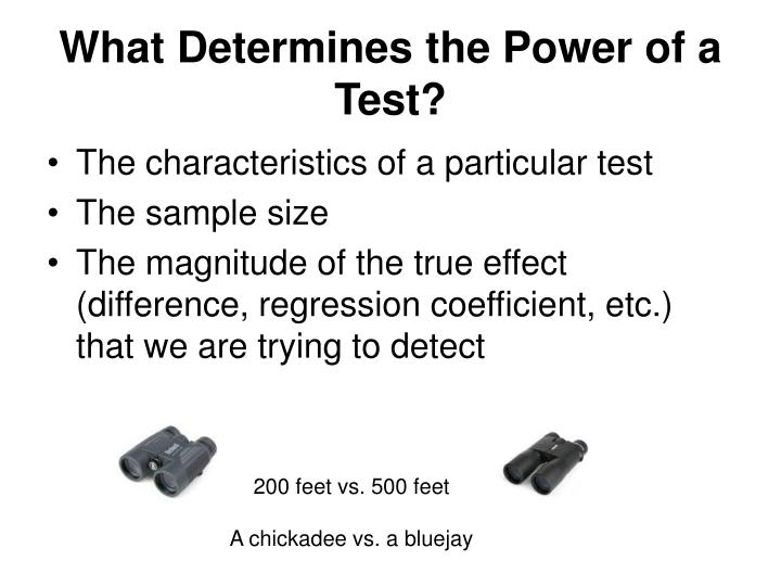 What Determines the Power of a Test?
