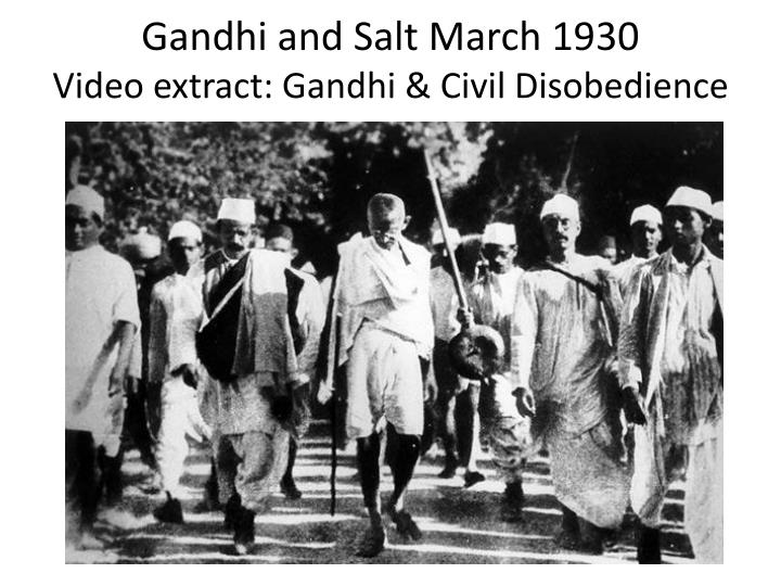 civil disobedience and gandhi Civil disobedience movement on 31 st january 1930, after a few weeks of reflection, mahatma gandhi submitted an ultimatum to irwin while avoiding any mention of a.