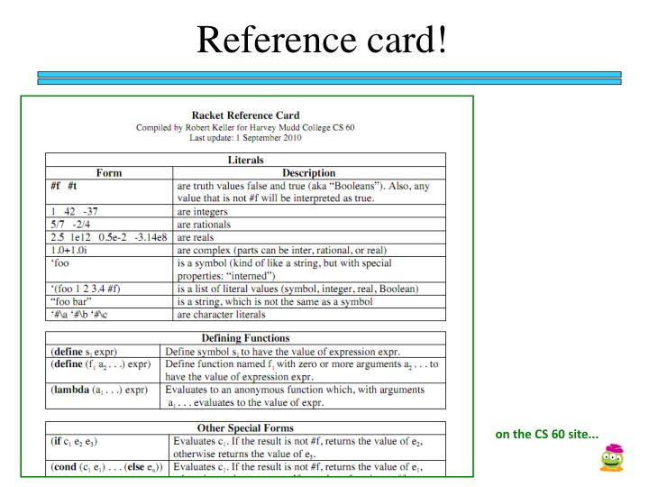 Reference card!