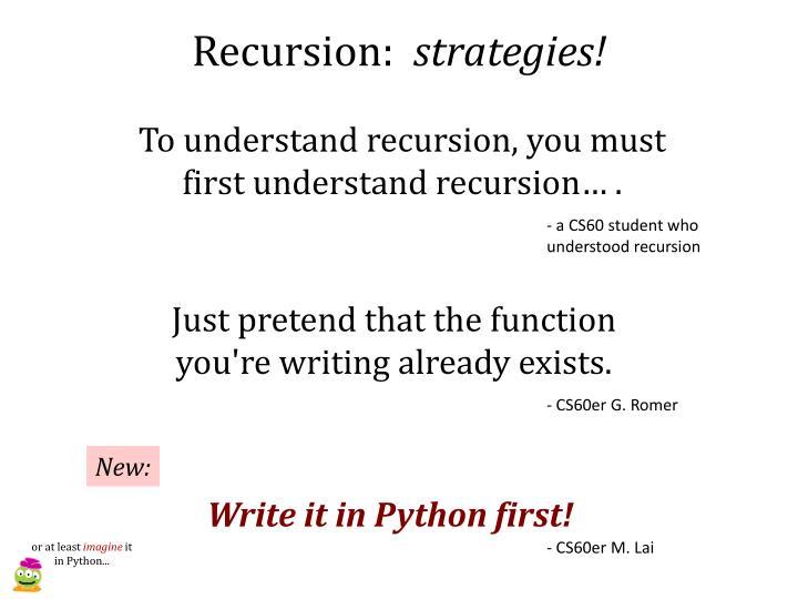 Recursion: