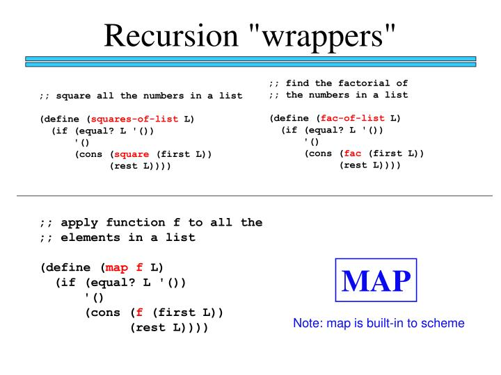 """Recursion """"wrappers"""""""