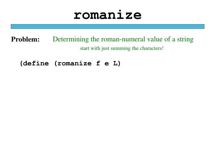 romanize