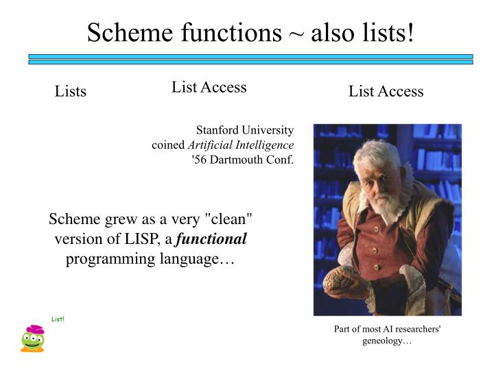 Scheme functions ~ also lists!