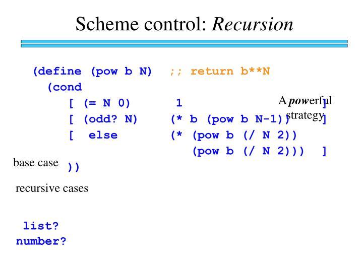 Scheme control: