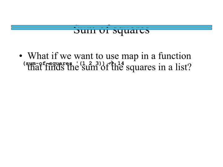 Sum of squares