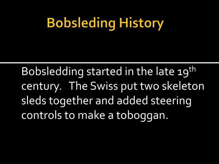 Bobsleding