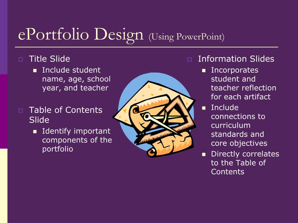 PPT - Electronic Portfolios for Students PowerPoint