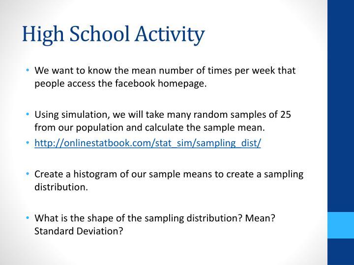High School Activity