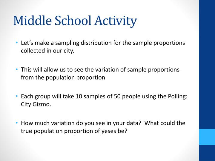 Middle School Activity