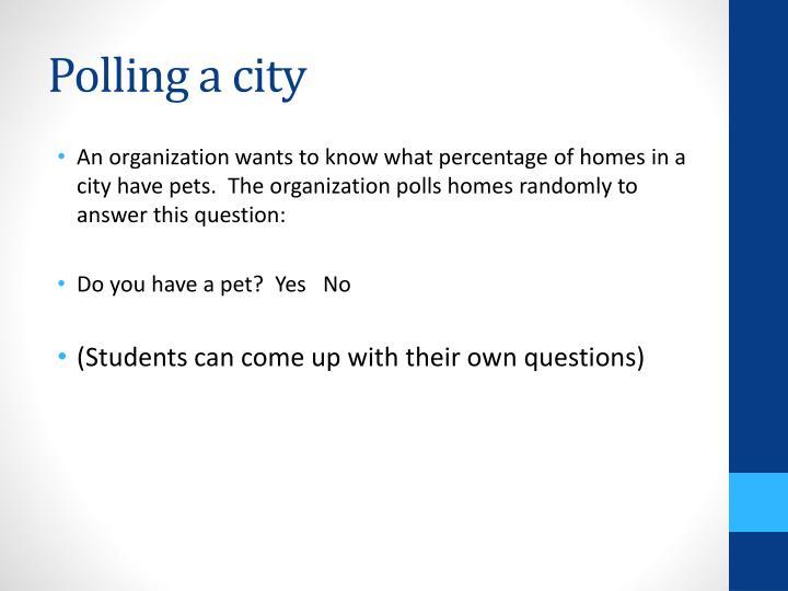 Polling a city