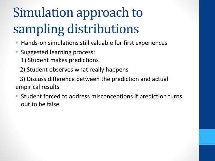 Simulation approach to sampling distributions