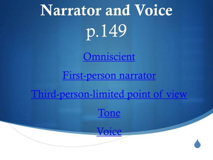 Narrator and voice p 149
