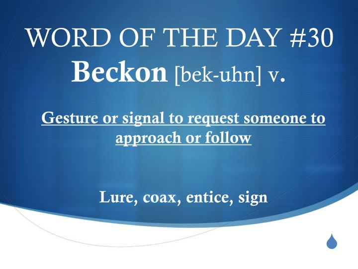 WORD OF THE DAY #30