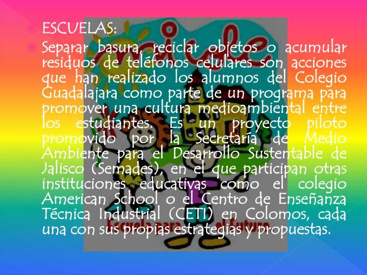 ESCUELAS: