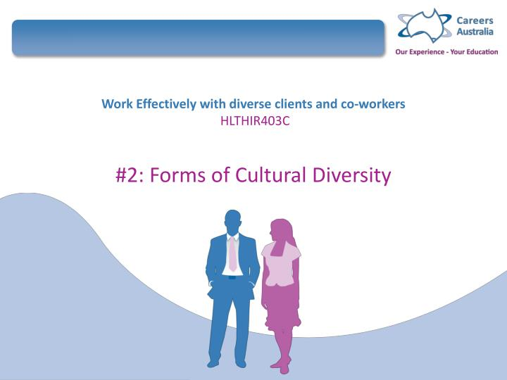 work effectively with diverse clients and co workers hlthir403c n.