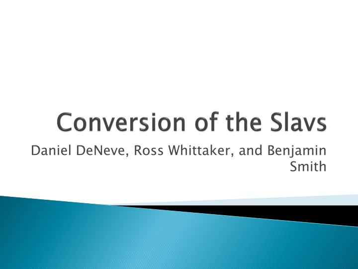 conversion of the slavs n.