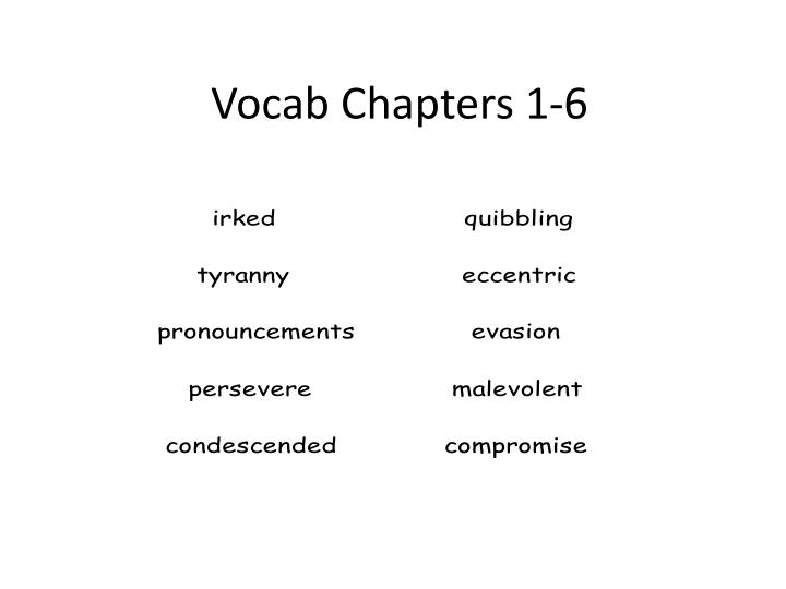 vocab chapters 1 6 n.