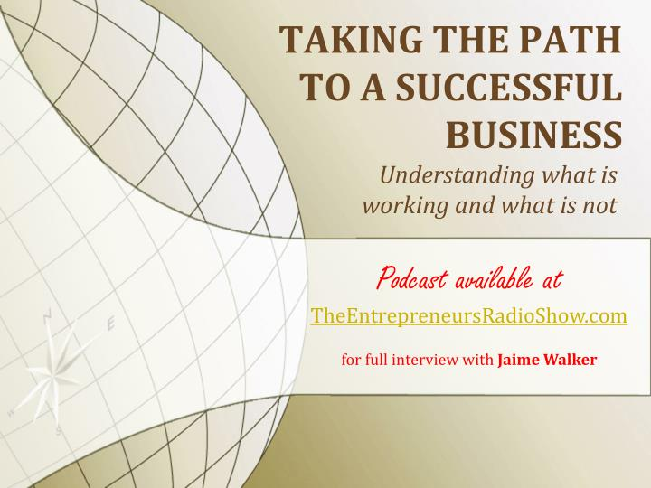 taking the path to a successful business n.
