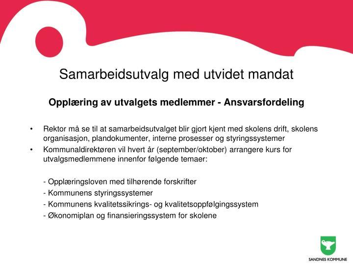 Samarbeidsutvalg med utvidet mandat
