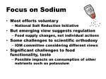 focus on sodium