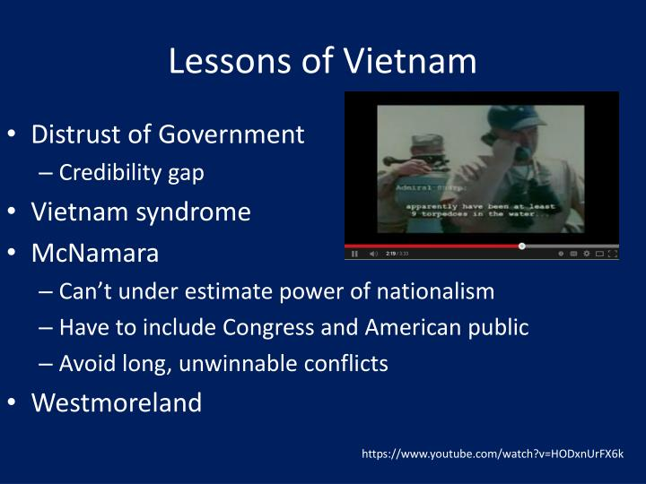 Lessons of Vietnam