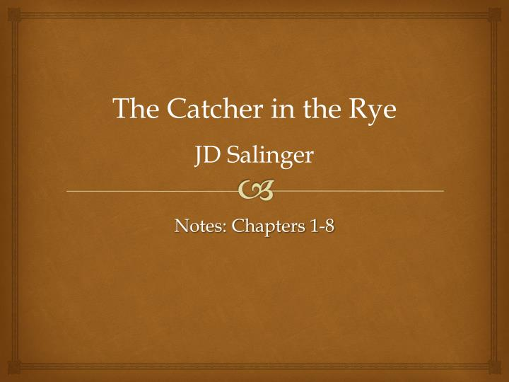 dealing with the loss in jd salingers novel catcher in the rye