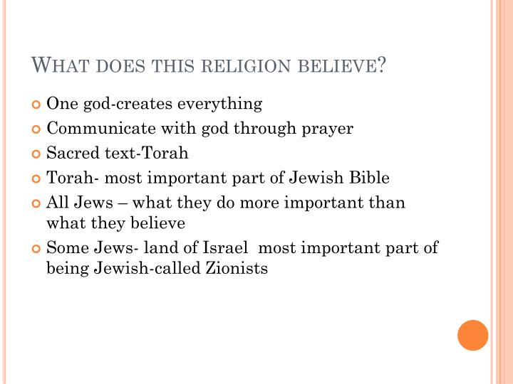 What does this religion believe?
