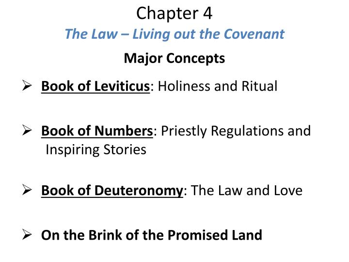 chapter 4 the law living out the covenant n.
