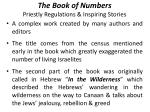 the book of numbers priestly regulations inspiring stories