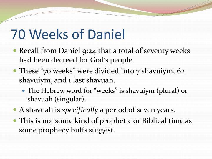 70 Weeks of Daniel