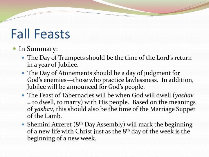 Fall Feasts